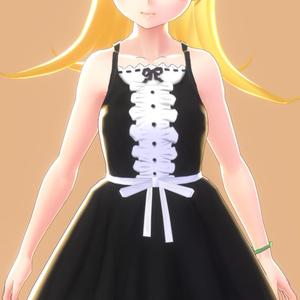 VRoid Shinobu Black Dress Set