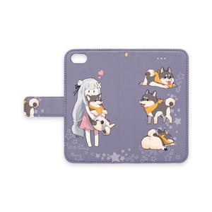 エミリア&柴犬スバル手帳型iPhoneケース
