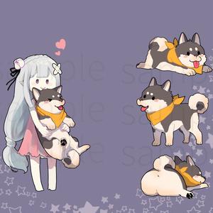 エミリア&柴犬スバルAndroidケース