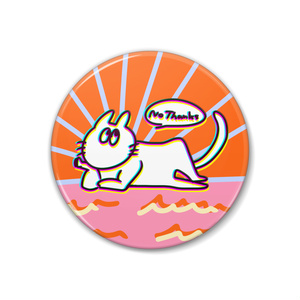 sunset-cat 缶バッジ(創作)