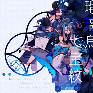 瑠璃鳥七宝紋ーiPhone case