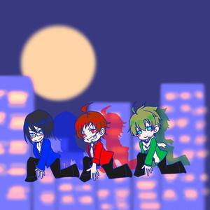 月夜のメガネふきミニ