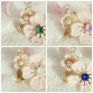 🌸誉れ桜の耳飾り🌸