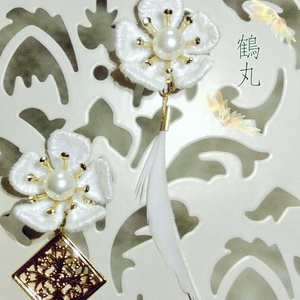 🌸誉れ桜と鳥太刀の耳飾り🌸