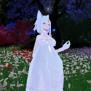 【スキニング済衣装)clothAラインドレス