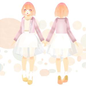 【オリジナル3Dモデル】ゆるふわガール