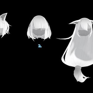 【3Dアクセサリー】hairウィッグ2