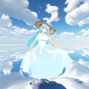 【スキニング済衣装】星空ワンピ