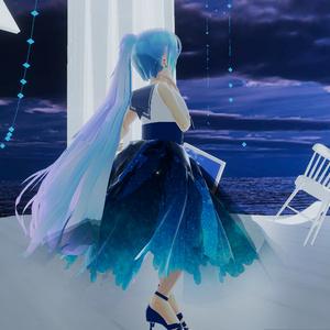 【スキニング済衣装】雨垂れワンピ