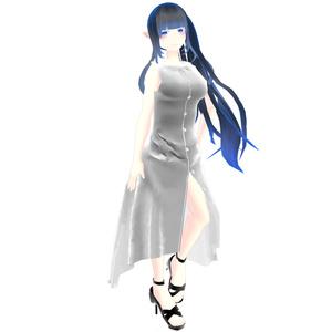 【スキニング済衣装】シャツドレス