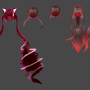 【3Dアクセサリー】hairウィッグ3