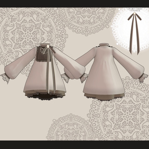 【スキニング済衣装】アンティークドレス