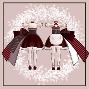 【スキニング済衣装】Valentinecostume