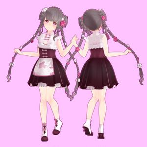 【スキニング済衣装】梅チャイナ