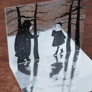 鏡と*雪*のヴィネットカード