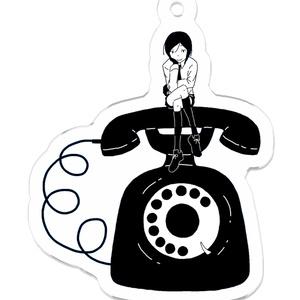 アクリルキーホルダー 電話