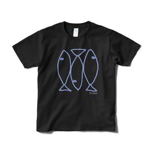 イワシTシャツ(ブラック)