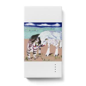 猫とヤギのモバイルバッテリー
