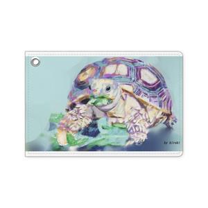 リクガメのパスケース