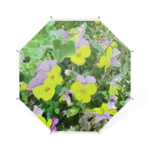 パンジー(紫と黄色)の卓上ミニ傘