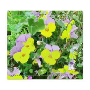 パンジー(紫と黄色)の捺印マット