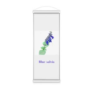 青いサルビアのミニタペストリー