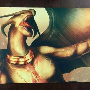 ラバーマット:ドラゴン(プレイマット、デスクマット兼用)