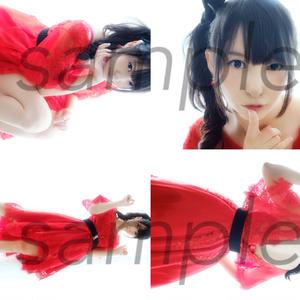 【生写真】赤ドレス4枚セット【DLおまけつき】