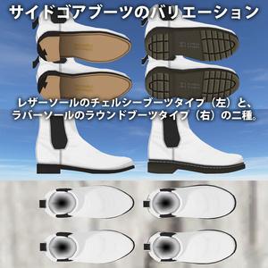 [3Dモデル] 05 サイドゴアブーツ 2種3色