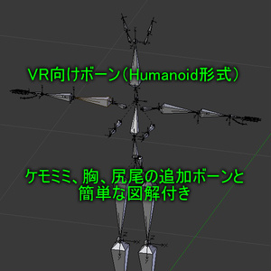 VR向けボーン (Humanoid形式)