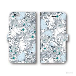『花束』 手帳型iPhoneケース〈WB〉 - iPhone5/5s・6/6s・6Plus/6sPlus・7/7Plus・8/8Plus・X/XS・XR・XS Max