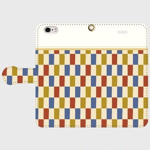 市松模様 着物布団 手帳型iPhoneケース - iPhone5/5s・6/6s・6Plus/6sPlus・7/7Plus・8/8Plus・X/XS・XR・XS Max