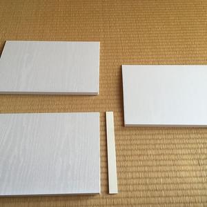棚化キット【3段用】(木目調白)