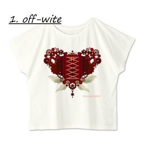 送料込「ゆるっとゆったりドルマンTシャツ(歯車heart・R)」