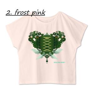 送料込「ゆるっとゆったりドルマンTシャツ(歯車heart・G)」