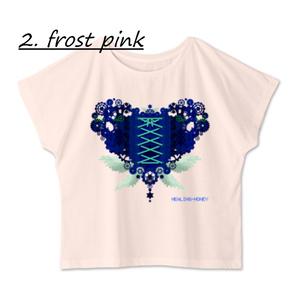 送料込「ゆるっとゆったりドルマンTシャツ(歯車heart・B)」