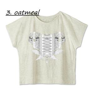送料込「ゆるっとゆったりドルマンTシャツ(歯車heart・WT)」
