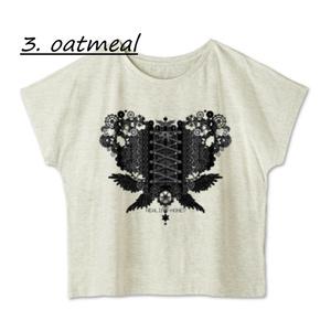 送料込「ゆるっとゆったりドルマンTシャツ(歯車heart・BK)」