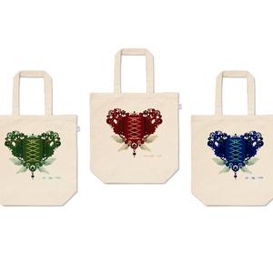 歯車(heart)トートバッグ全3色