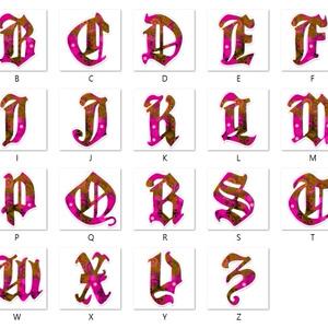 【桃】アルファベット型アクリルキーホルダー全26文字