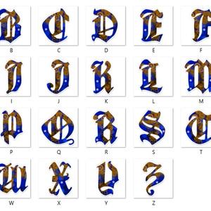 【蒼】アルファベット型アクリルキーホルダー全26文字