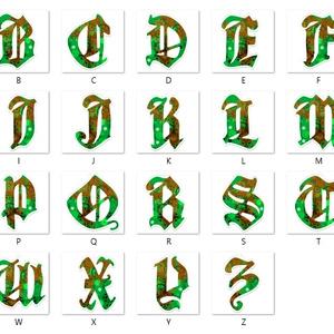 【翠】アルファベット型アクリルキーホルダー全26文字