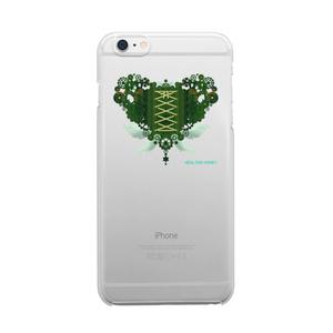 SE&X追加!受注生産「歯車(heart・G/グリーン)」iPhone各種クリアスマートフォンケース