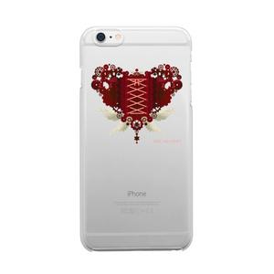 SE&X追加!受注生産「歯車(heart・R/レッド)」iPhone各種クリアスマートフォンケース