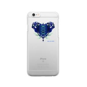 SE&X追加!受注生産「歯車(heart・B/ブルー)」iPhone各種クリアスマートフォンケース