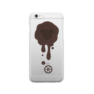 SE&X追加!受注生産「ビターチョコ」蝋封風ロゴモチーフiPhone各種クリアスマートフォンケース