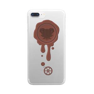 SE&X追加!受注生産「ミルクチョコ」蝋封風ロゴモチーフiPhone各種クリアスマートフォンケース