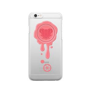 SE&X追加!受注生産「ストロベリーチョコ」蝋封風ロゴモチーフiPhone各種クリアスマートフォンケース