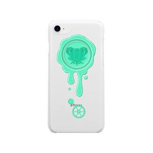 SE&X追加!受注生産「チョコレートミント」蝋封風ロゴモチーフiPhone各種クリアスマートフォンケース