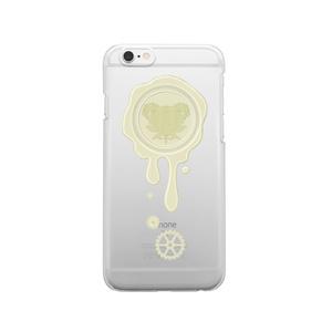 SE&X追加!受注生産「ホワイトチョコ」蝋封風ロゴモチーフiPhone各種クリアスマートフォンケース